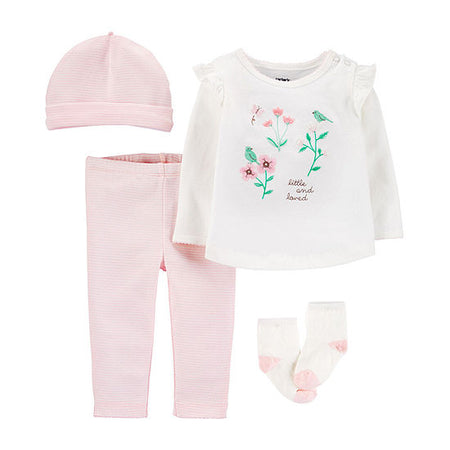 Conjunto Baby Girls 4pçs Carter's