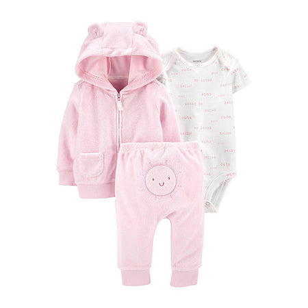 Conjunto Baby Girls 3pçs Carter's