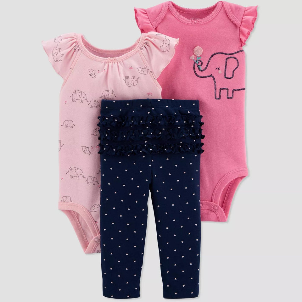 Conjunto Baby Girls's Elephant- Just One You por Carter's