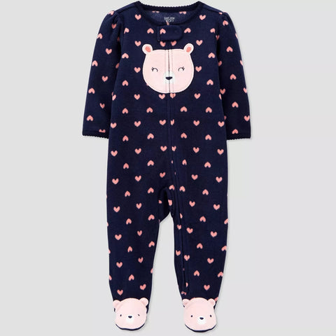 Macacão Baby Girls' Bear Fleece - Just One You® Carter's