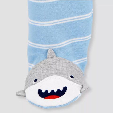 Macacão Baby Boys' Shark Just One You® carter's PRONTA ENTREGA
