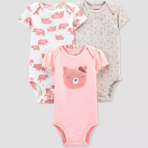Body manga curta 3pk Bear - Just One You® por Carter's