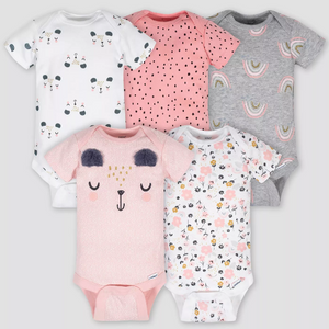 Kit Bodysuit Gerber Baby Girls' 5pk Bear