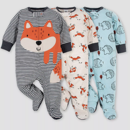Kit Macacão Gerber Baby Boys '3pk Fox