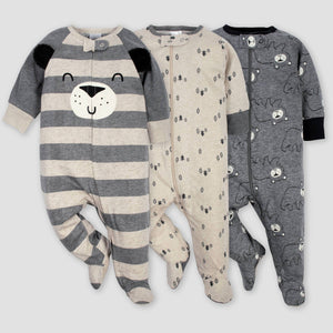 Macacão Bear Sleep N 'Play de 3pç de Gerber Baby Boys