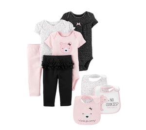 Bodysuits 8pc  (Baby Girls)