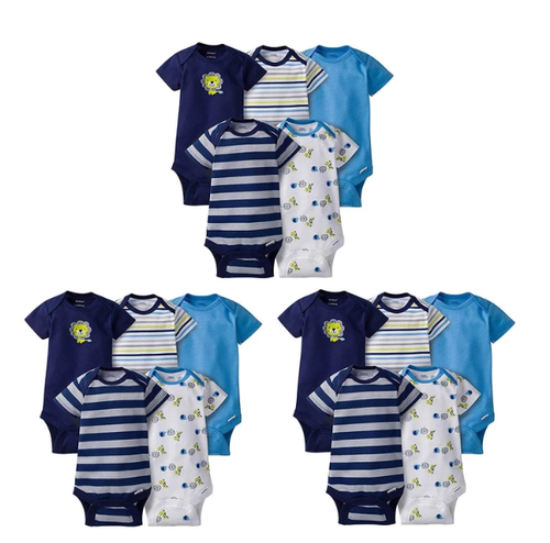 Bodysuits de manga curta Grow-with-Me Set 15 peças