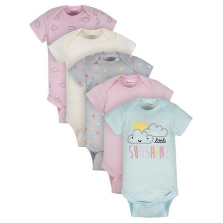 Kit body Gerber Baby Girl Organic  5-pç