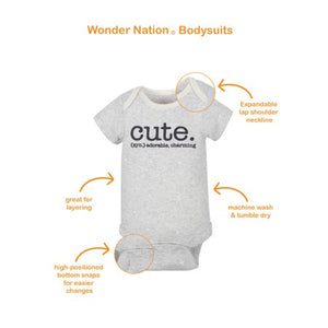 Bodysuits Wonder Nation Baby Girl  6-pç