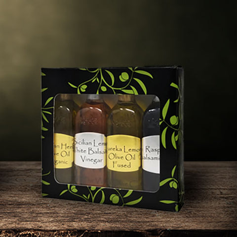The Virgin Olive Oiler 4-Bottle Sampler Gift Box