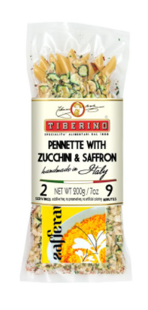 Pennette Positano with Zucchini and Saffron