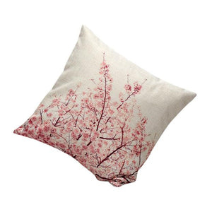 rosey tree pillow