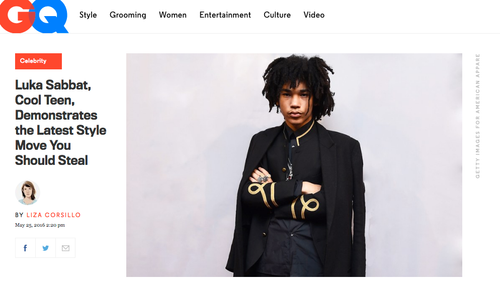 GQ: Luka Sabbat, Cool Teen, Demonstrates the Latest Style Moves You Should Steal