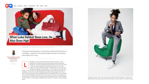 GQ: When Luka Sabbat Goes Low, He Also Goes High