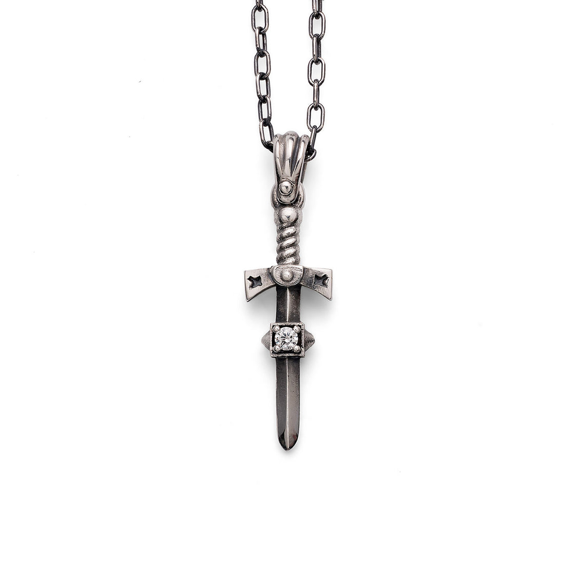 Sword Pendant Single Stone
