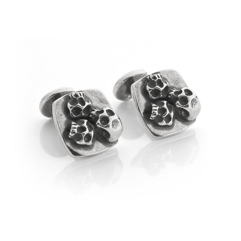 Love Death Trio Skull Cufflinks