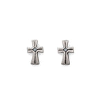 Baby Cross Line Earrings