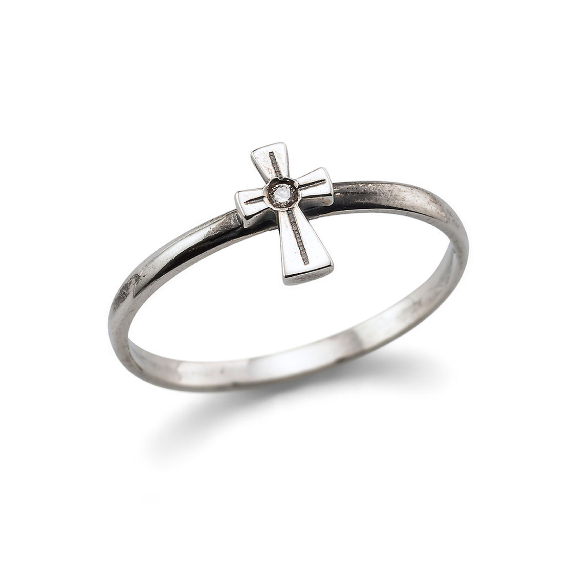 Baby Cross Line Ring