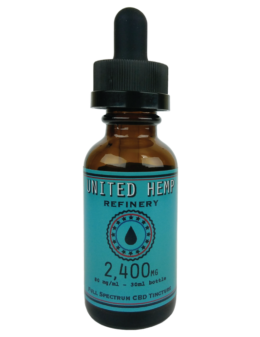 2,400mg 30ml Full Spectrum Tincture - United Hemp Refinery CBD
