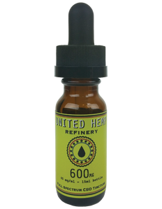 600mg 15ml Full Spectrum Tincture - United Hemp Refinery CBD
