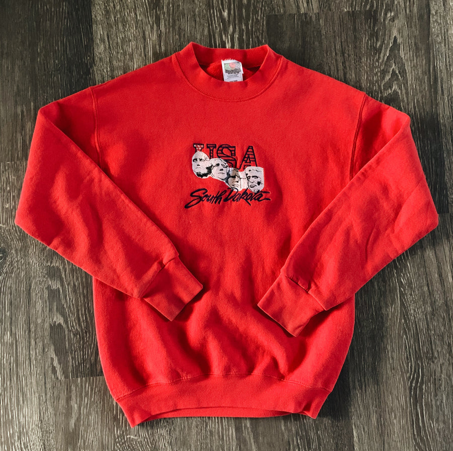 Vintage Embroidered Mt. Rushmore Crewneck