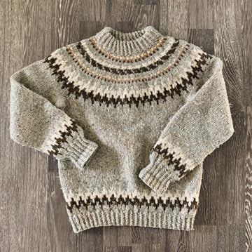 Vintage Hand Knitted Heavy Wool Sweater