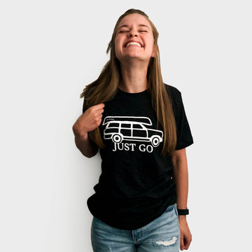 Just go Wagoneer Tee // Heather Black