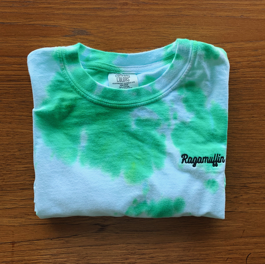 Coalition Embroidered Tee // Exclusive Tie-Dye Green