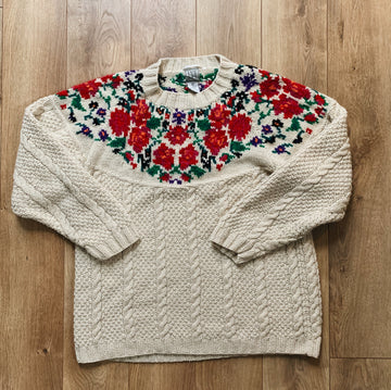 Vintage Women's Hand Knit Ivy Sweater
