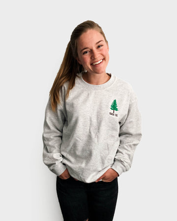 Pine Embroidered Crewneck // Ash