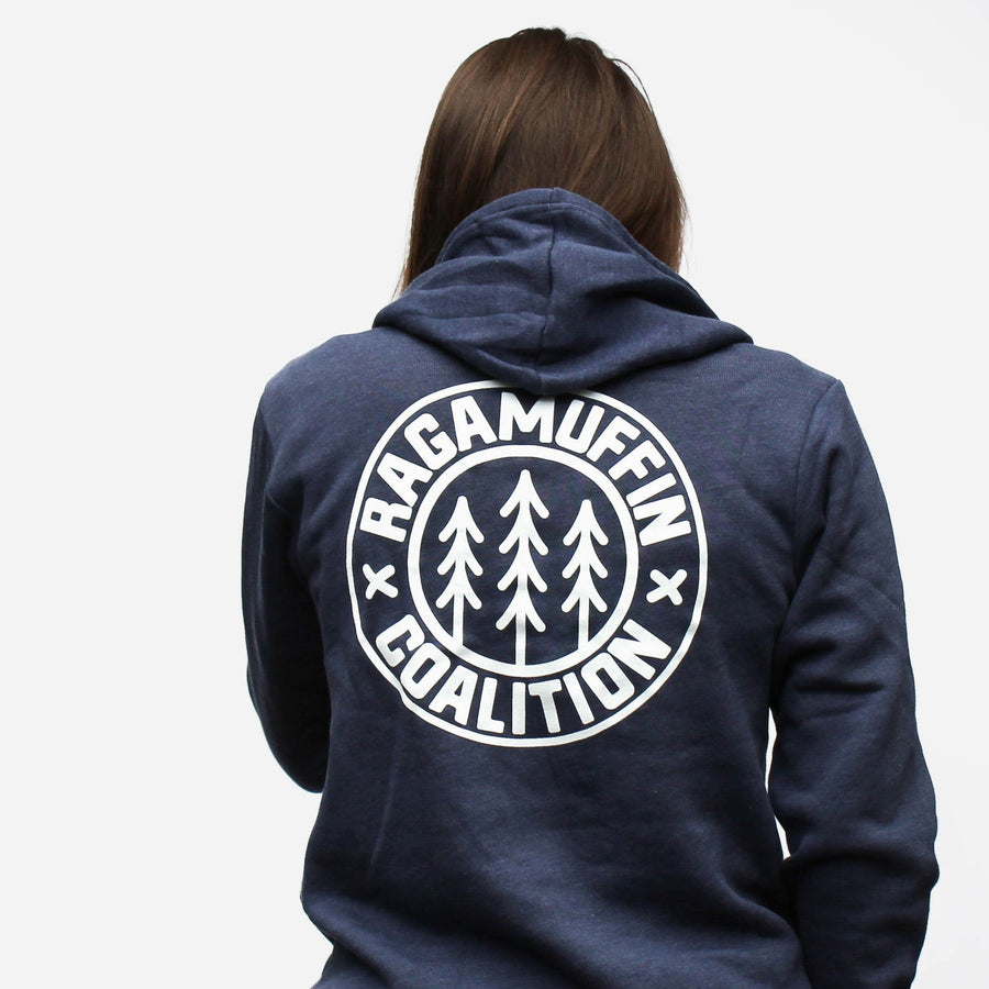 Logo Badge Hoodie // Heather Navy