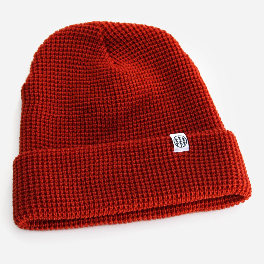 Branded Waffle Beanie // Multiple Colors