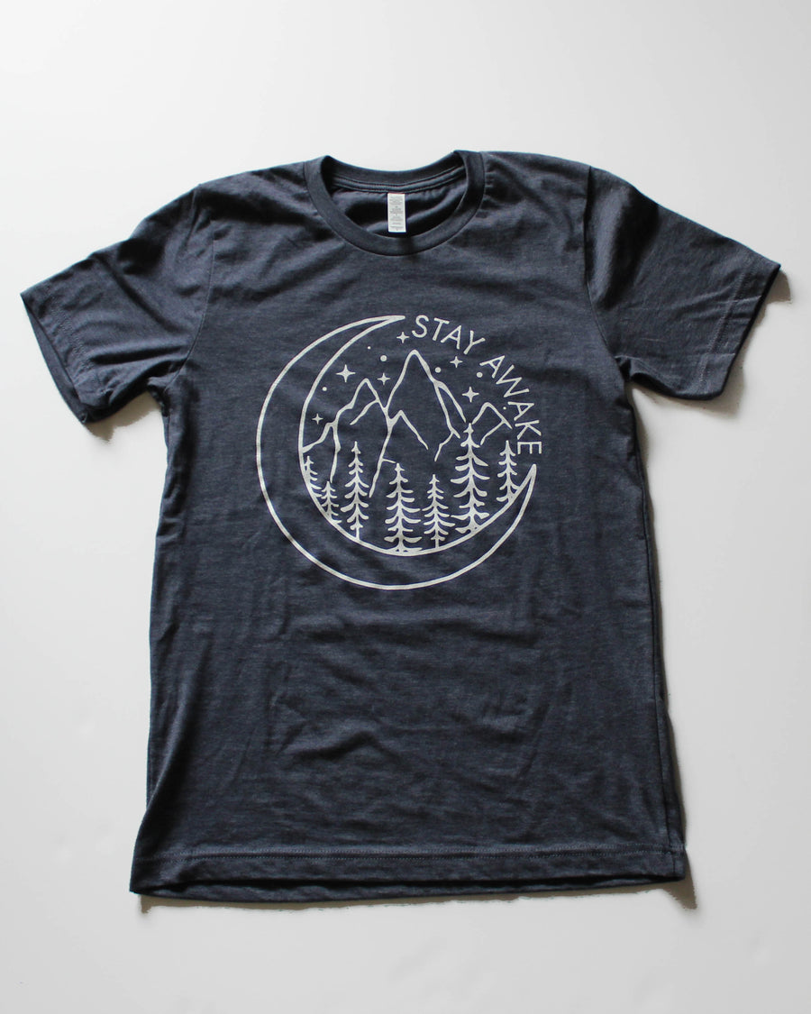 Stay Awake Tee // Heathery Navy