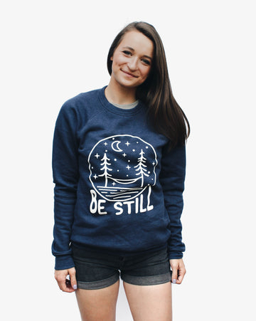 Be Still Crewneck // Navy
