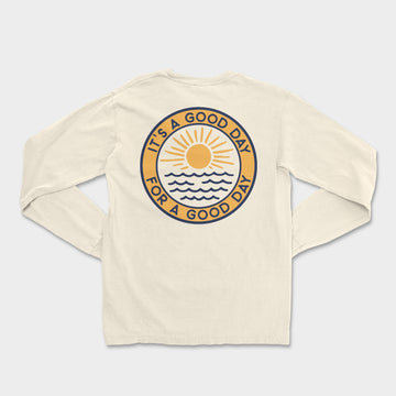 Good Day Long Sleeve Tee // Ivory