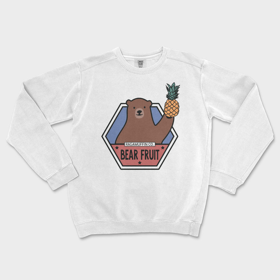 Bear Fruit Crewneck // White