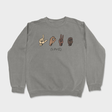 The Love Crewneck // Grey
