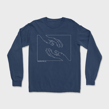 The Tyler Long Sleeve Tee // Navy