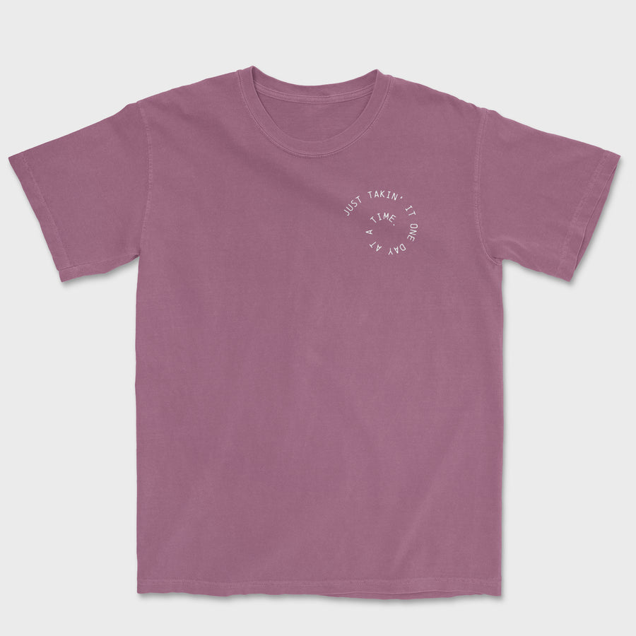 One Day At A Time Tee // Berry