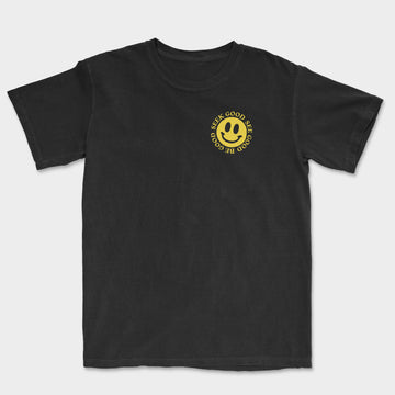 The Smiley Tee // Black