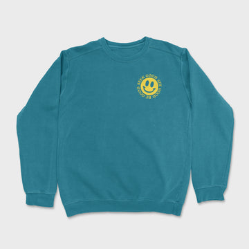 The Smiley Crewneck // Topaz