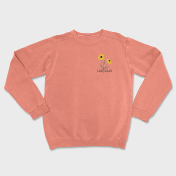 Wild Flower Embroidered Crewneck // CLOSEOUT