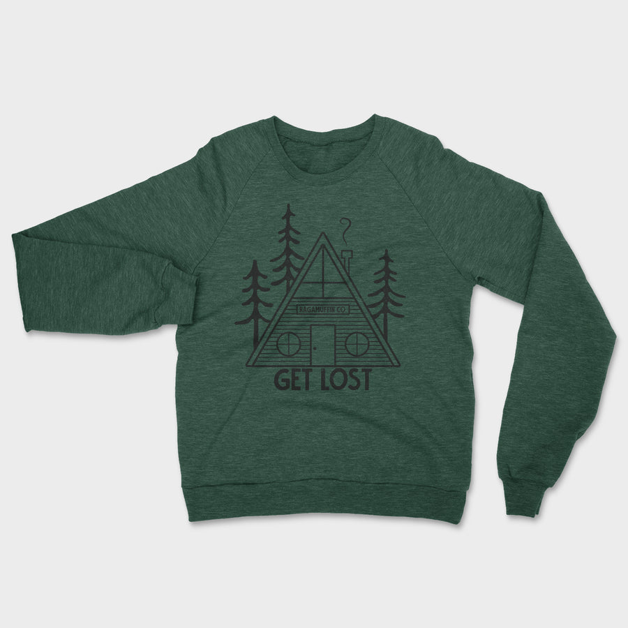 Get Lost Crewneck // Heather Forest
