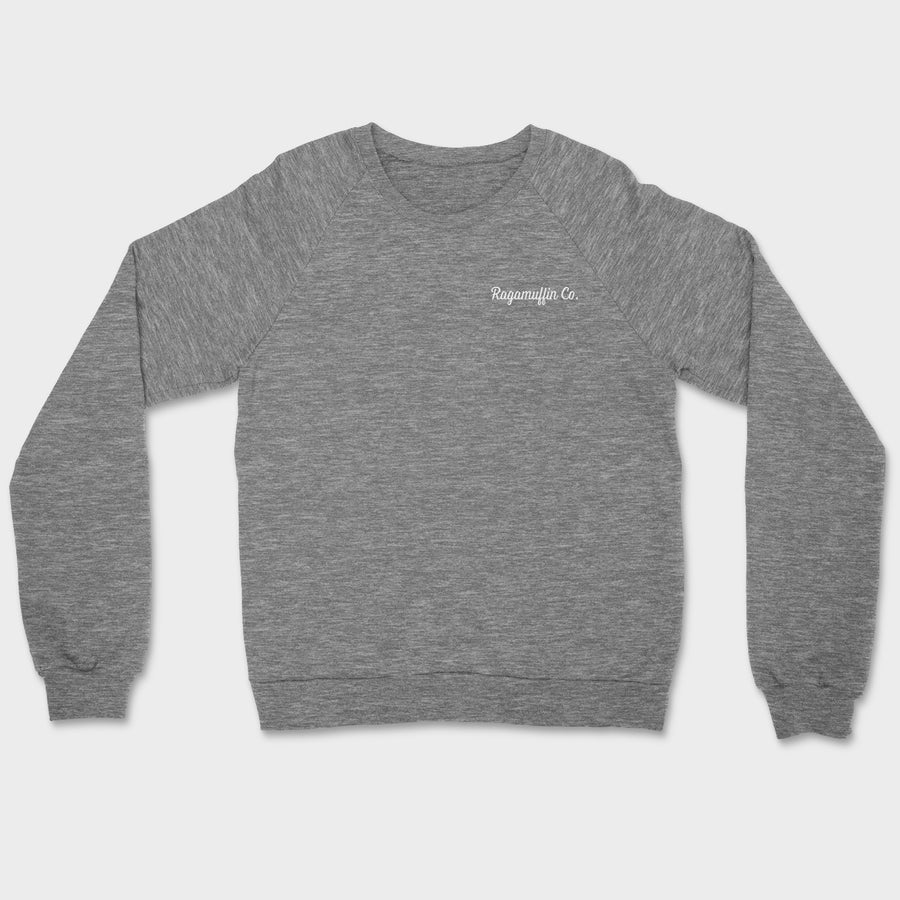 Coalition Embroidered Crewneck // Tri-Grey