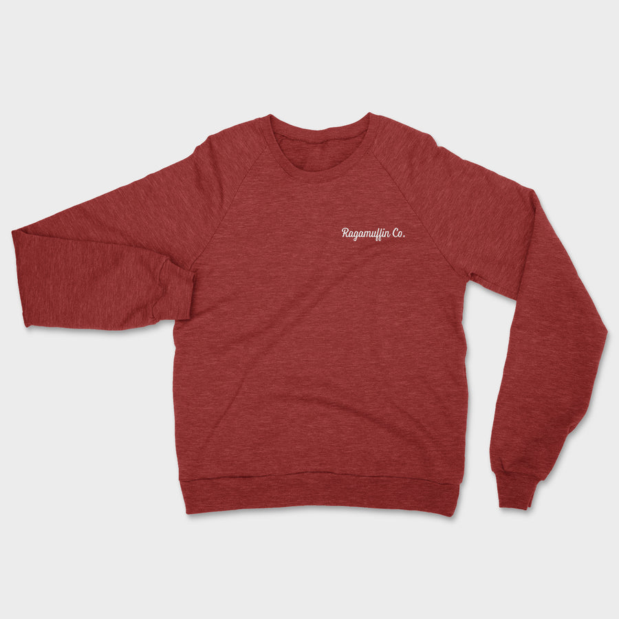 Coalition Embroidered Crewneck // Tri-Cardinal