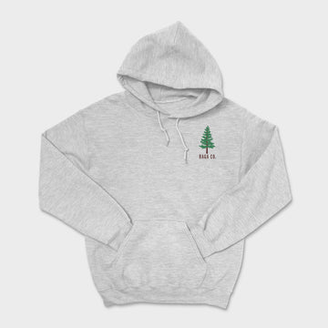 Pine Embroidered Heavyweight Hoodie // Ash