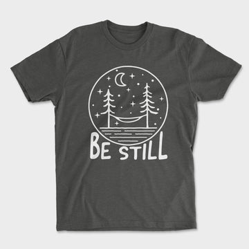 Be Still Tee // Charcoal