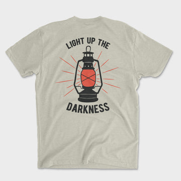 Light Up the Darkness Tee // Sand