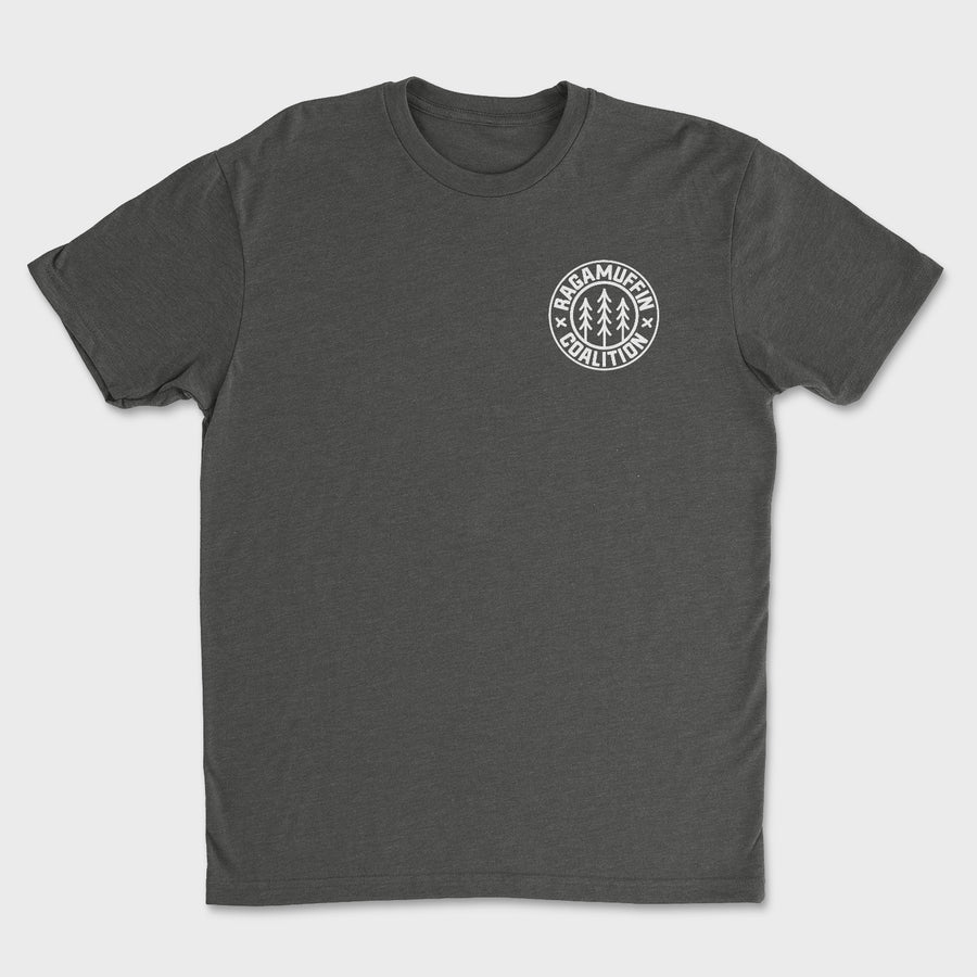 Logo Badge Tee // Charcoal