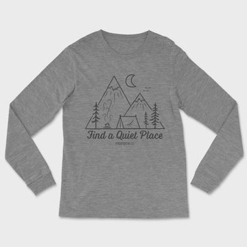 Quiet Place Long Sleeve Tee // Deep Heather